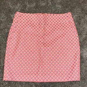 Salmon and navy Ann Taylor business style skirt